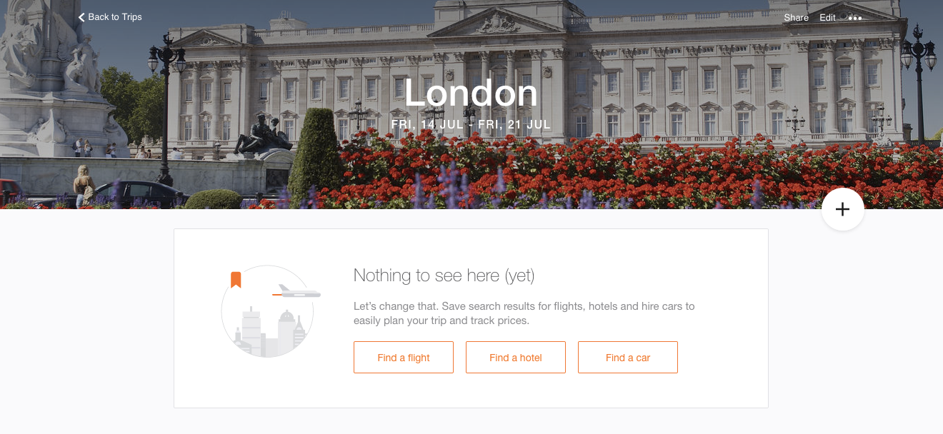 Keep all your flight and hotel bookings in one place with